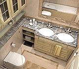 Каменные столешницы из гранита, мрамора, оникса, кварца  для ванной комнаты от производителя. Изделия из камня с гарантией.