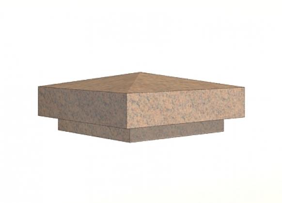 Крышки на столбы заборов из натурального камня, новая коллекция 2017