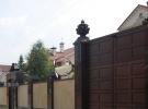 Столб заборный, накрывка и навершие из Дымовского гранита