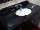 "Столешница для  ванной комнаты  Камень кварц ""Санта Маргарита"", ""Техни Стоун"", ""Кварц"""