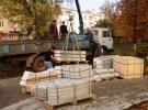 Колонны из Мансуровского гранита к изделию Беседка для влюбленных в Ясногорске (Тульская область)