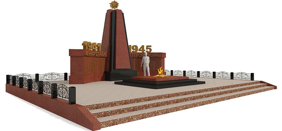 Мемориальный комплекс с крестом Салехард Мраморные розы Волчанск